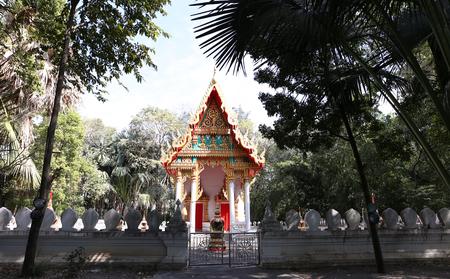 Main hall at Manee Kwan Chai temple in Saraburi, Thailand