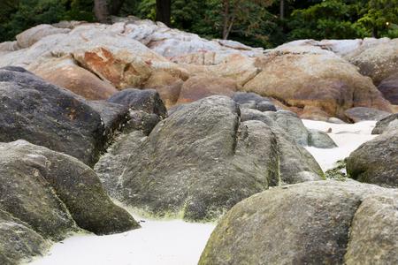 Rock on the beach at Lipe island, Thailand