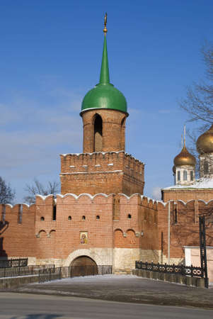 Tula kremlin sky day old photo