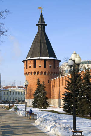 Tula kremlin sky day old Stock Photo - 4883957