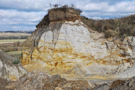 stratified: Sand open-cast mine