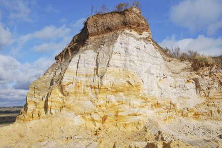rock strata: Sand open-cast mine