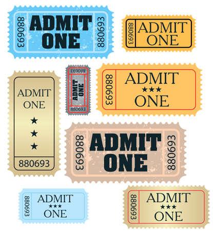 admit one: set of ticket admit one