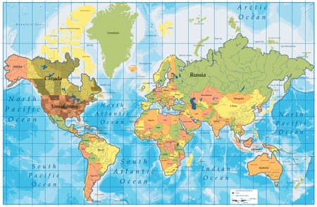 world map outline: Map with all names