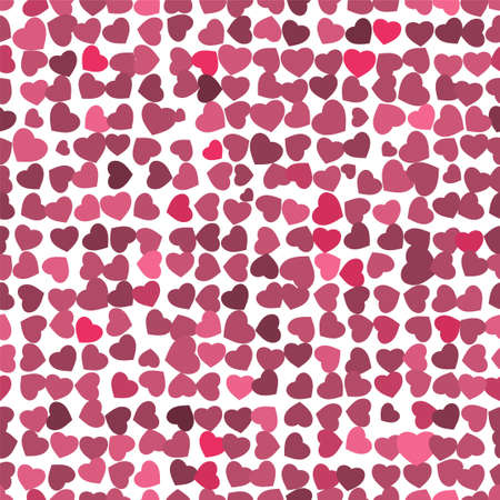 Red hearts background on white Vector