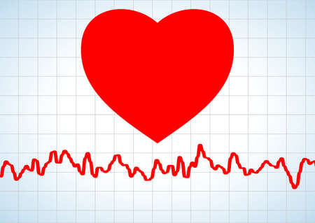 Heart and heartbeat symbol Stock Vector - 7675692