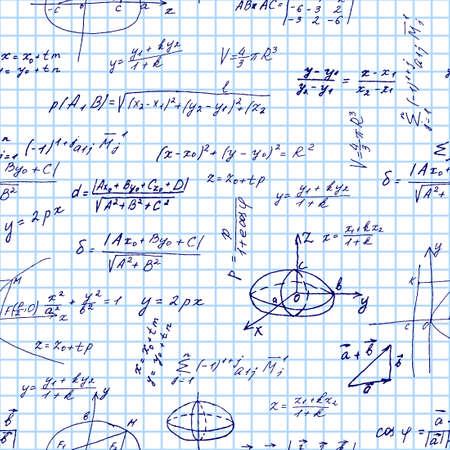 Maths seamless pattern Vector