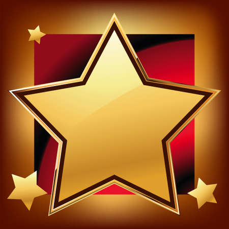 star award: Golden star Illustration
