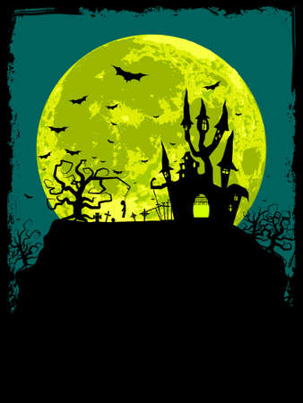 Halloween poster background.  Illustration
