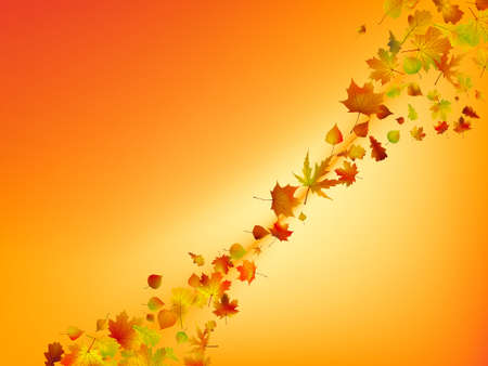 Abstract autumn background.   Vector