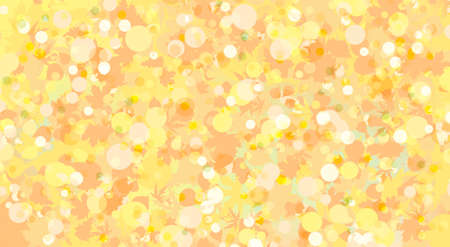 Leaves autumn background in orange and yellow.   Vector