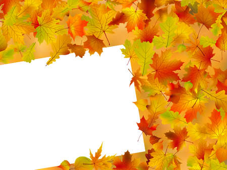 Image and Illustration composition for Thanksgiving invitation border or background with copy space. illustration