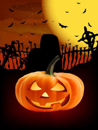 Spooky Halloween composition.  photo