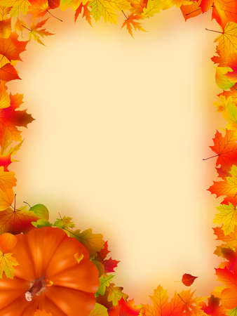 Thanksgiving holiday frame.  Stock Photo - 8089685