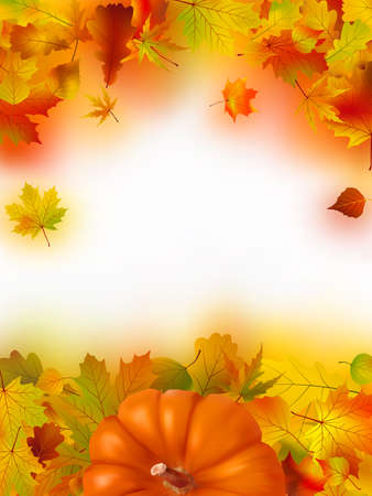 Image and Illustration composition for Thanksgiving invitation border or background with copy space. Stock Illustration - 8089691