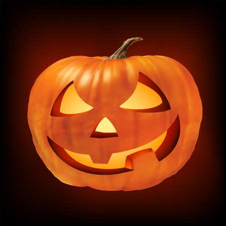 a ceramic halloween jack o lantern pumpkin Stock Photo - 8089642