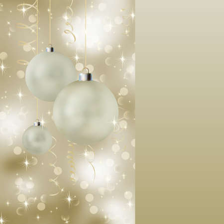 Soft light christmas background with neutral colors. EPS8 Stock Photo - 8187769