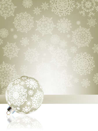 Elegant christmas background with baubles. EPS8 Stock Photo - 8188120