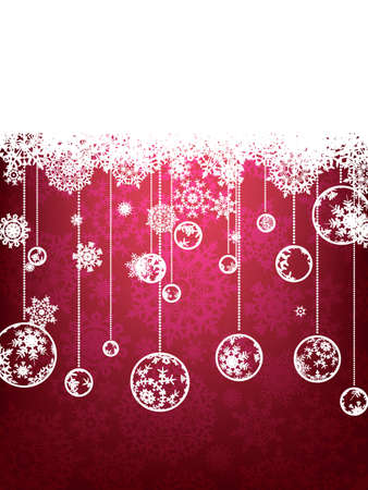 Christmas background with copyspace. All elements on separate layers. EPS8 Stock Photo - 8188194