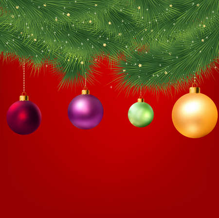 Christmas background with tree. EPS8  Stock Photo - 8188196