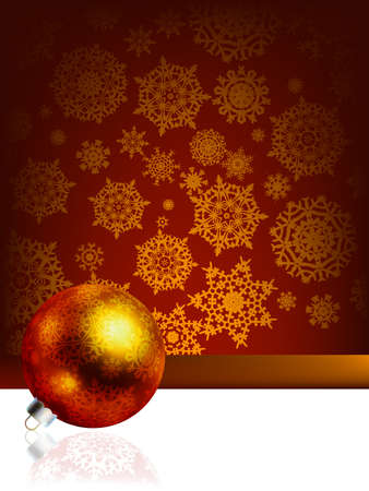 Elegant christmas background with baubles.  Stock Photo - 8219705