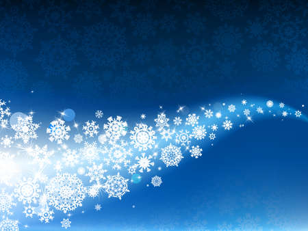 Blue winter background &amp, snowflakes. Without a transparency.   photo