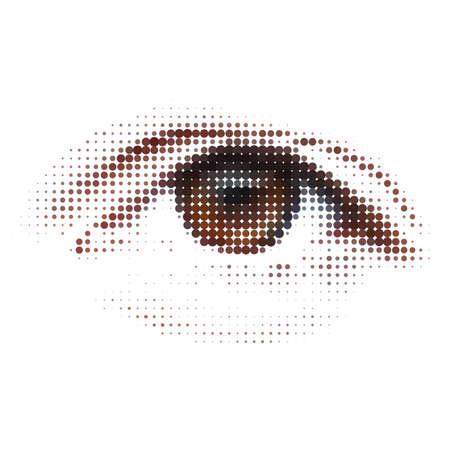 reconocimiento: Digital - ojo. Ilustraci�n abstracta.  Vectores