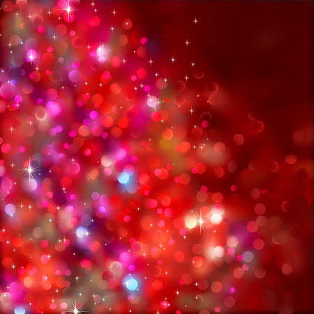 Red blurry christmas lights. (Without a transparency) Stock Vector - 8250182