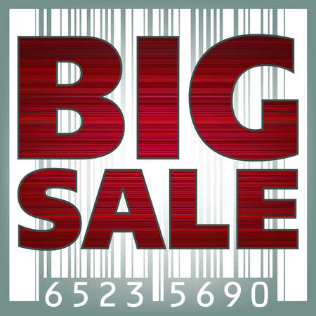 Big sale barcode illustration. Stock Vector - 8315123