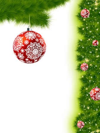 Thank You Card With A Christmas Balls .  photo