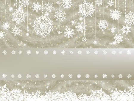 Elegant new year and christmas card template.  Vector
