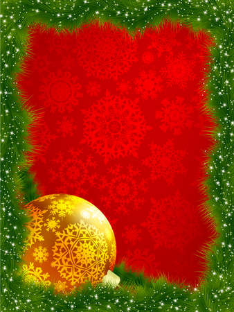 Elegant christmas with snowflakes tree branches. EPS 8 vector file included Stock Photo - 8362186