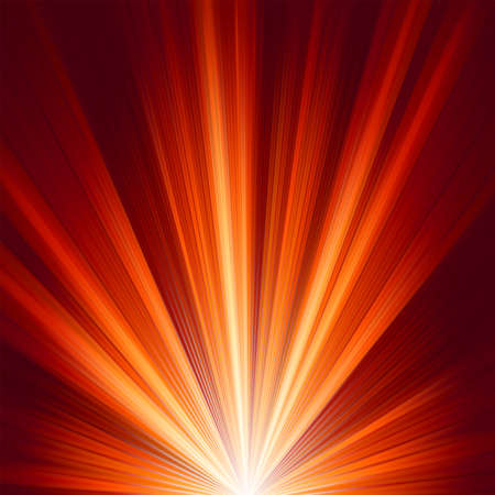 Template with burst warm color light Vector