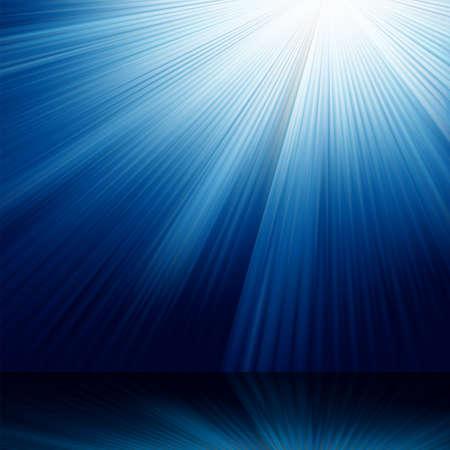 Blue luminous rays. Stock Vector - 8402229