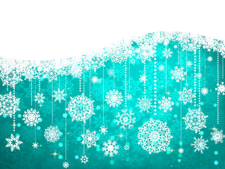 Christmas background with snowflakes. EPS 8 vector file included
