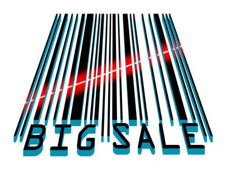 laser tag: Big Sale bar code concept with laser light. EPS 8 vector file included