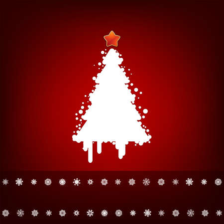 Design with christmas tree. EPS 8 vector file included photo