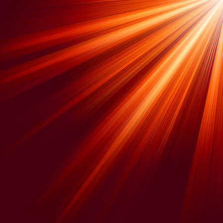 Red luminous rays. EPS 8 vector file included Stock Vector - 8462732