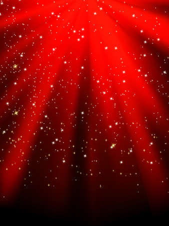 Stars on red striped background. Festive pattern great for winter or christmas themes. EPS8 Vector