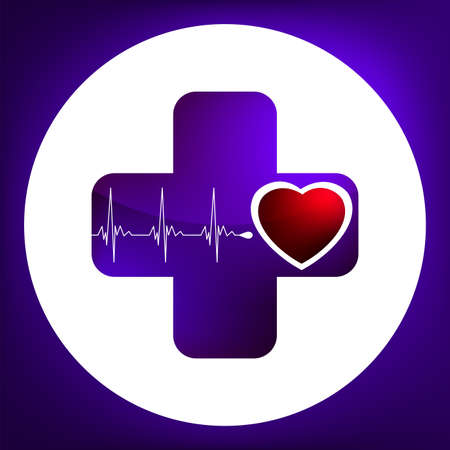Heart and heartbeat symbol. Easy Editable Template. Without a transparency. EPS 8 vector file included Stock Vector - 8493742