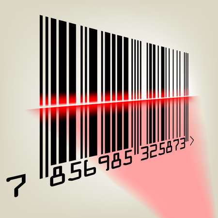 Bar code with laser light. EPS 8 vector file included Stock Vector - 8498838