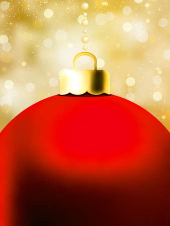 Christmas Ball card template. EPS 8 vector file included Stock Vector - 8498840