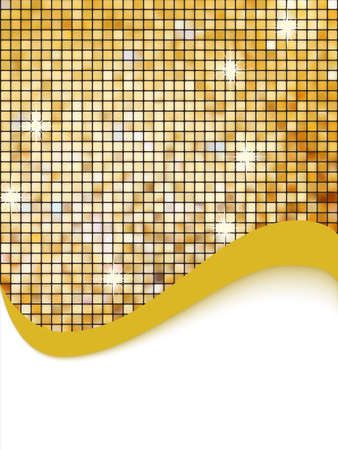 Golden mosaic vector background. EPS 8 vector file included