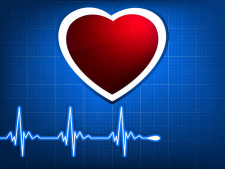 normal ecg red background, heartbeat. Great for scientific, medical purposes.  Vector