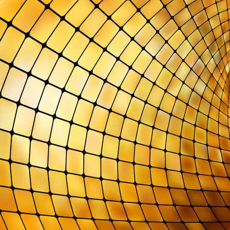 pool symbol: Golden business mosaic.