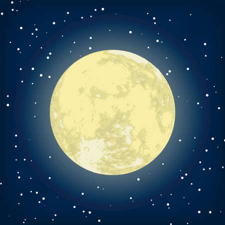 image of moon in the night.  Stock Vector - 8521208