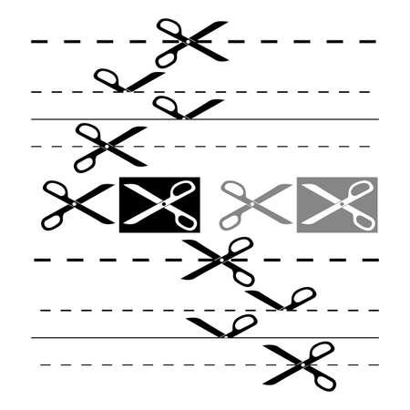 void: Scissors template for design.