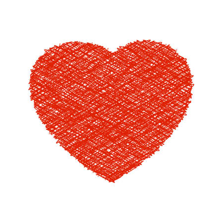 Weaving red heart. EPS8  Stock Vector - 8615964