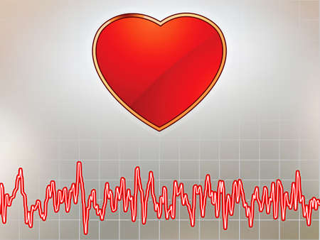 heart and heartbeat symbol. EPS8 Vector