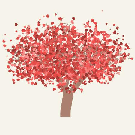 valentine tree. Vector